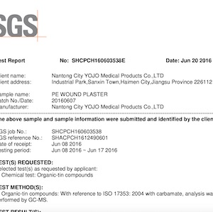certifikát k zakázkové výrobě náplastí